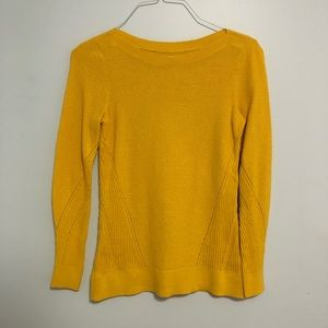 100% Cotton Loft Fall Yellow Sweater